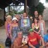Irene, Liana, Ester, Laura, Alessandro, Andrea, Luciano e Salvo al Rick's Cafè di Negril (Jamaica)