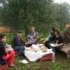 Maria Francesca e i suoi famigliari da Coregliano Calabro (Cosenza) si rilassano con un pic nic e Sorrisi dopo la raccolta delle olive