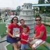 Marilena e Riccardo con i figli Alberto e Giorgio all'Italia in miniatura (Rimini) con «Sorrisi»