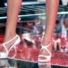 Alessia Marcuzzi. Un particolare: i sandali (Foto Olycom)