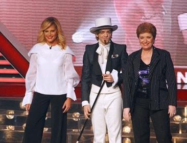 Simona Ventura, Morgan e Mara Maionchi