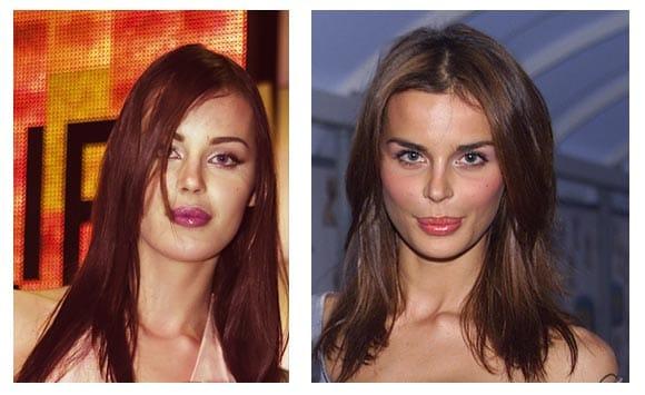 Nina Moric prima e dopo i «ritocchini»