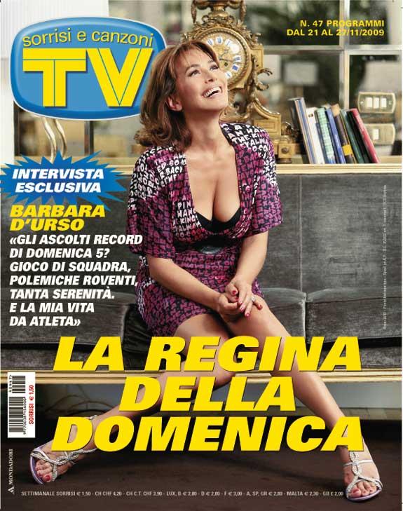 Barbara D'Urso in copertina