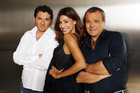 Teo Mammucari, Belen Rodriguez e Claudio Amendola