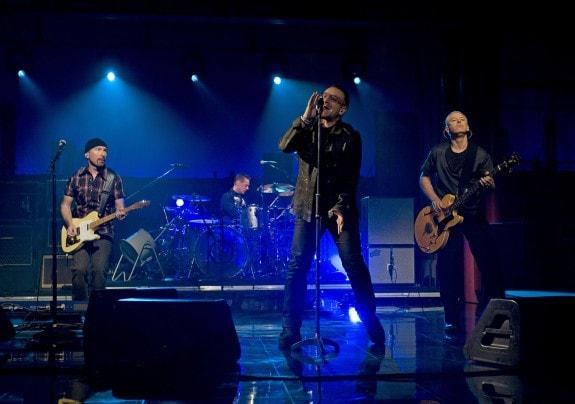 Gli U2 al «Late Show with David Letterman»» il 2 marzo 2009