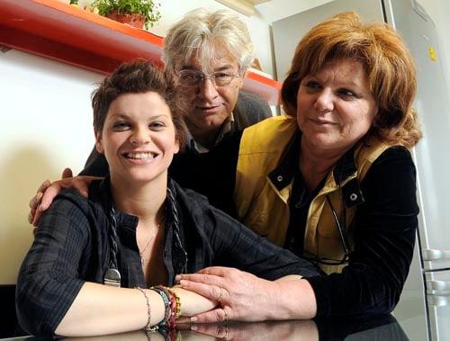Alessandra Amoroso con il padre Walter e la madre Angela