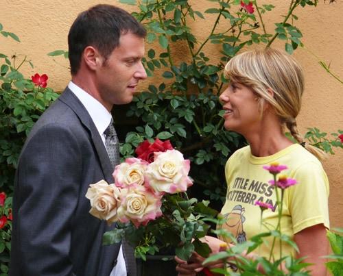 Alessia Marcuzzi e Pietro Sermonti in «Un amore di strega»