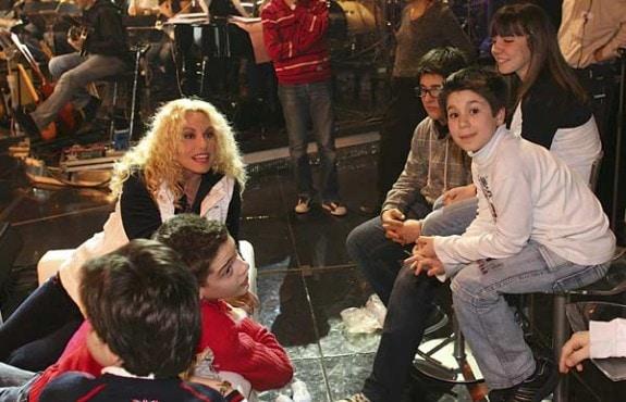 Antonella Clerici durante le prove di Ti lascio una canzone (foto Rino Petrosino)