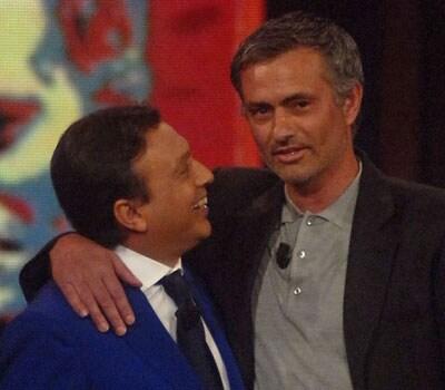 Piero Chiambretti e José Mourinho (Foto KikaPress)