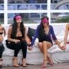 Le ragazze della casa bendate attendono la star misteriosa (Foto Olycom)