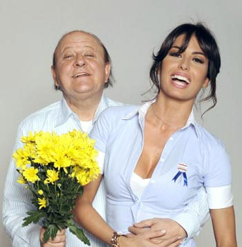 Massimo Boldi ed Elisabetta Gregoraci
