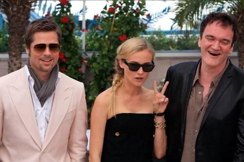Brad Pitt, Diane Kruger e Quentin Tarantino