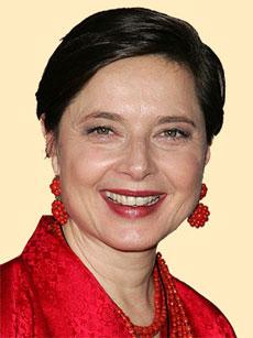 ISABELLA ROSSELLINI, attrice, ex modella, 57 anni
