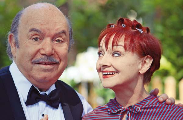 Lino Banfi e Milena Vukotic (Foto Rino Petrosino)