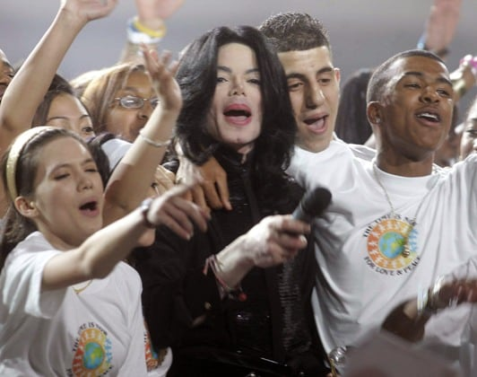 Michael Jackson a Londra, ospite dei World Music Awards nel 2006 (foto Kika Press)