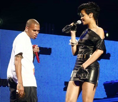 Chris Brown e Rihanna insieme in concerto (Foto Kika Press & Media)