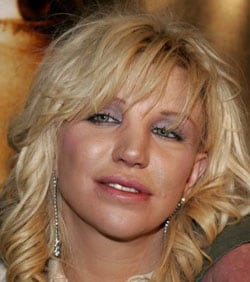 COURTNEY LOVE, cantante e attrice, 45 anni