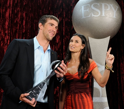 Michael Phelps e Demi Moore