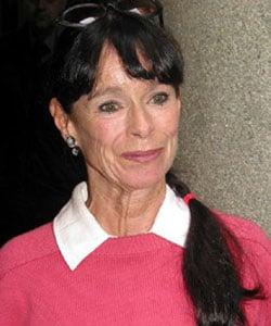 GERALDINE CHAPLIN, attrice, 65 anni