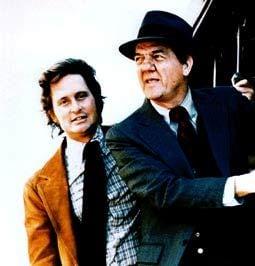 Karl Malden (a destra) con Michael Douglas