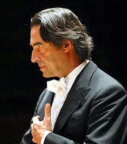 RICCARDO MUTI, direttore d'orchestra, 68 anni