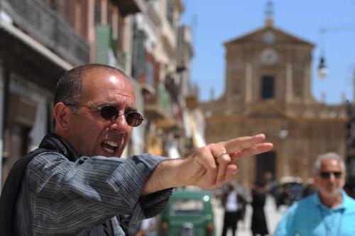 Giuseppe Tornatore sul set del film «Ba'aria»