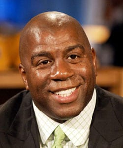MAGIC JOHNSON, ex cestista, 50 anni
