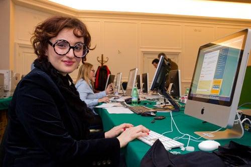 Arisa nella redazione di Sorrisi a Sanremo