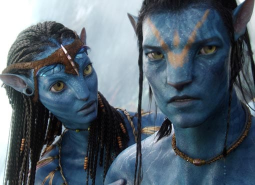 Zoe Saldana e Sam Worthington in «Avatar»