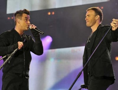Robbie Williams e Gary Barlow (foto Ansa)