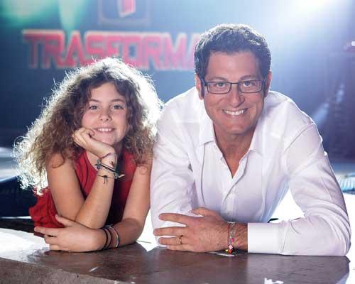 Enrico Papi con la figlia Rebecca (foto Iwan Palombi)