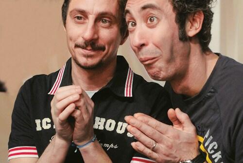 Da sinistra, Luca Bizzarri e Paolo Kessisoglu (foto Frezza La Fata)