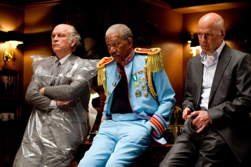 Da sinistra John Malkovich, Morgan Freeman e Bruce Willis
