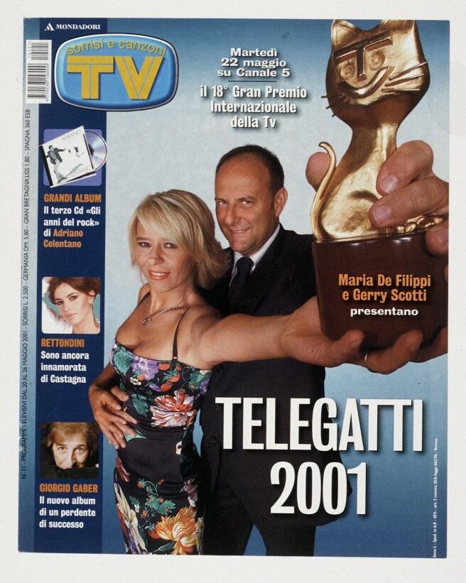 2001: Maria conduce la serata dei Telegatti con Gerry Scotti