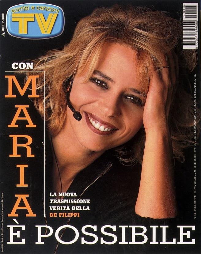 1998: Maria presenta a Sorrisi il nuovo show «Missione Impossibile»