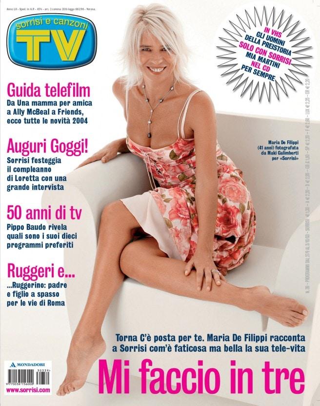 2003: Maria parla dei suoi tre impegni televisivi dell'autunno