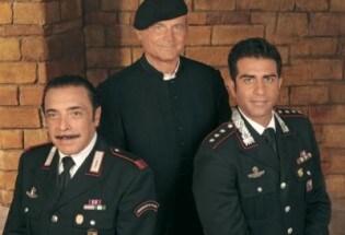 Terence Hill con Nino Frassica e Simone Montedoro