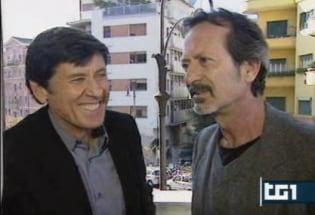 Gianni Morandi e Rocco Papaleo al Tg1
