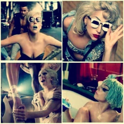 "Lady Gaga nel video di ""Marry The Night"""