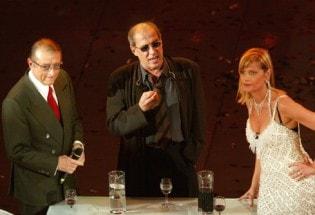 Sanremo 2004, Adriano Celentano con Simona Ventura e Tony Renis