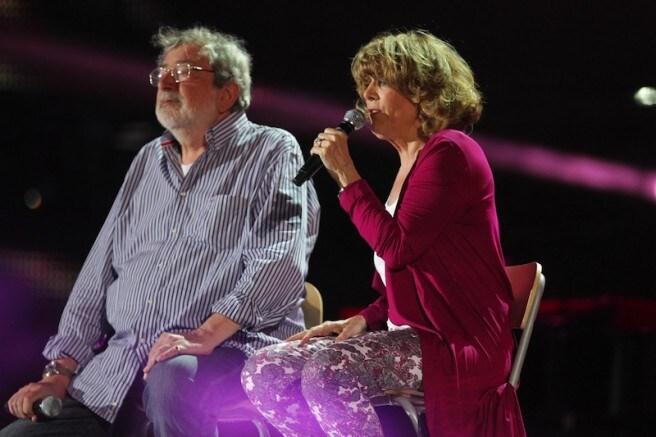 Caterina Caselli e Francesco Guccini (foto Ansa)