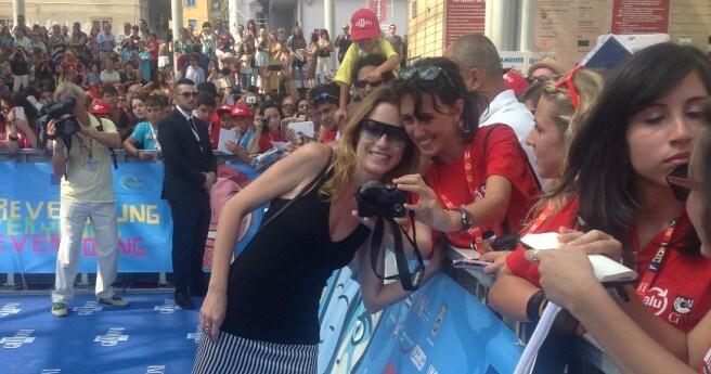 Stefania Rocca e i fan