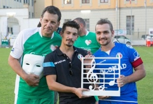 Fabrizio Frizzi, Pierdavide Carone e Valerio Scanu
