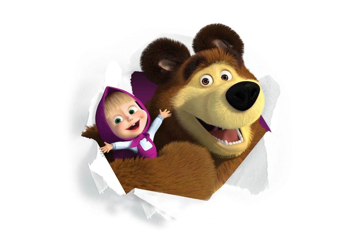 Masha e orso campioni di risate tenerezza tv