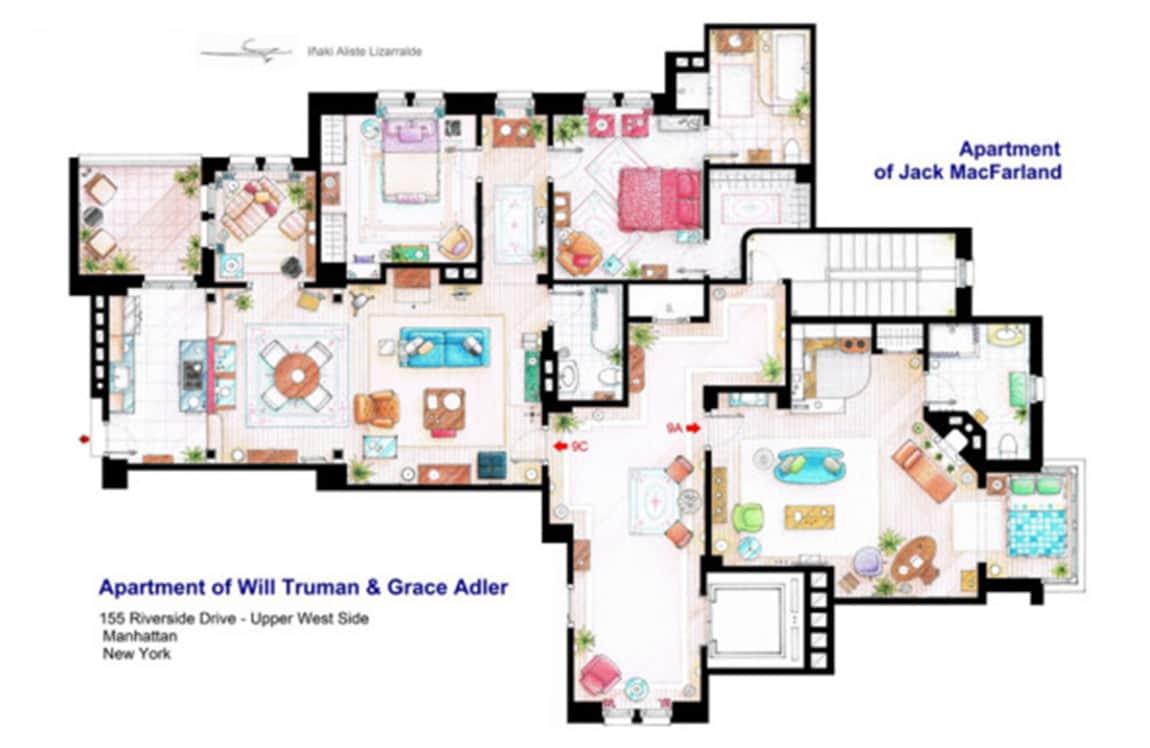 Le piantine delle case pi famose della tv tv sorrisi e for Planimetrie della casa senza garage